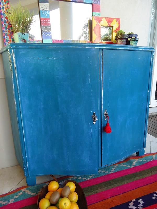 Pintura Vintage Azul Santorini 500 ML - 1