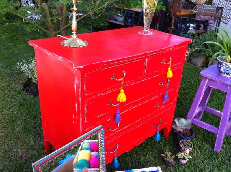 Pintura Vintage Rojo Glamour 200 ML - 3