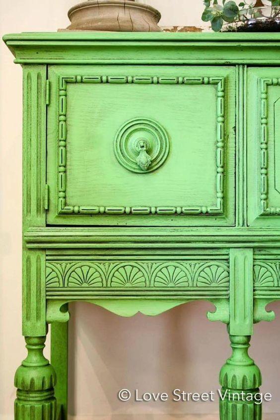 Pintura Vintage Verde...